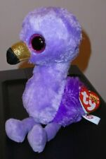 "Ty Beanie Boos ~ FIFI the Purple Flamingo (Claire's Exclusive) 6"" NEW ~ IN HAND"
