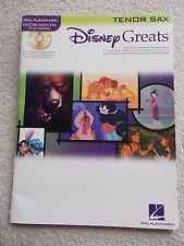 15 Disney Greats Tenor Sax + Play Along CD Unmarked