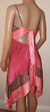 VICKY MARTIN pink shimmer BACKLESS cocktail dress 8 10 12 BNWT WEDDING party