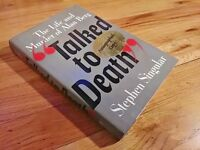 Talked to Death Alan Berg STEPHEN SINGULAR Signed by Judith Lee Ber 1st PRINT,