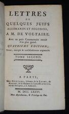 Lettres de quelques Juifs portugais, allemands et polonois, à M. de Voltaire.