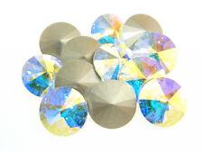 Swarovski Foiled Rivoli Stones Art.1122 14mm Crystal AB 12 Pieces cc