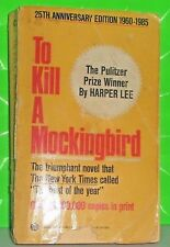 VINTAGE / TO KILL A MOCKING BIRD, HARPER LEE,  PAPERBACK 25TH ANNIVERSARY
