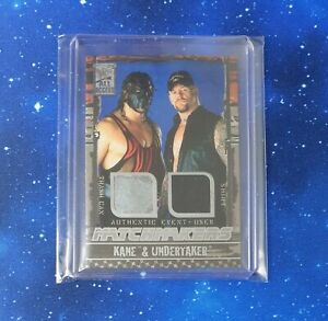 2002 Fleer All Access Undertaker and Kane Dual Relic WWE Legends Rare Card