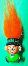 Vintage Russ? Orange Hair Patty O'Troll Leprechaun St Patricks Day Pin (P200)