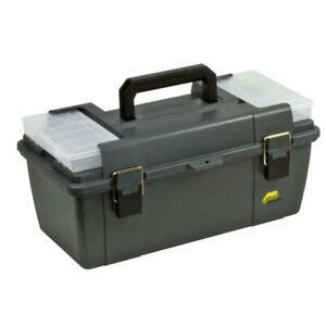 Plano Tool Box Tray Water Resistant Lockable Polypropylene Gray Storage 20 Inch