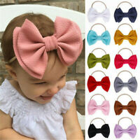 Kleinkind Baby Mädchen Big Bow Knot Stirnband Haarband Stretch Turban Head Wrap
