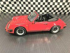 Minichamps 1983 Porsche 911 Carrera Cabriolet - Red - 1:18 Diecast Boxed