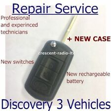 Land Rover Discovery 3 Key Fob Remote Repair Service Rechargeable Battery + Case