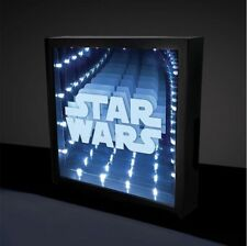 Official STAR WARS Illusion INFINITY LIGHT Desk Lamp 25cm Boxed