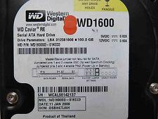 160 GB WD WD1600SD-01KCC0 / DSBHCTJAH / JAN 2006 / 2060-701267-001 REV A