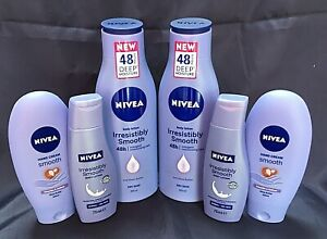 ABOXOV 6 x NIVEA Smooth Body & Hand Cream with SHEA BUTTER for Dry Skin
