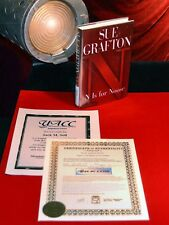 """Signed SUE GRAFTON Autograph BOOK """"N is for NOOSE,"""" COA UACC #228"""