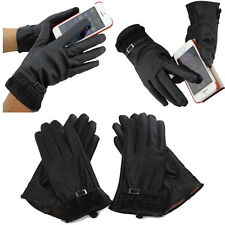 Women's Leather Click Touch Screen Magic Gloves Fast postage