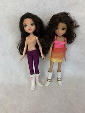 MGA Moxie Girlz Dolls Lot Brown Hair Brown Green Eyes Lot Of 2