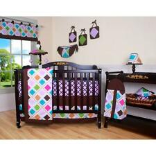 Crib Bedding Set 13Pc Baby Girl Sheet Comforter Bumper Pillow Diaper Stacker