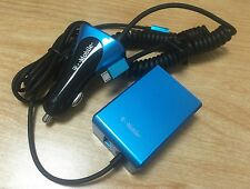 T-Mobile Universal Blue Micro USB Car & Wall Chargers w/ Extra Port + Free Cable