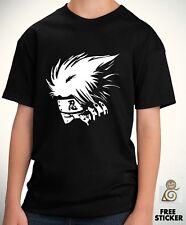 Naruto Kids T shirt Kakashi Sharigan Cartoon Anime Boys Tee Size 3 - 13 Years