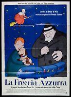 Poster die Pfeil Hellblau Zug Enzo D'Alo ' Paolo Conte Dario Fo Costa M27