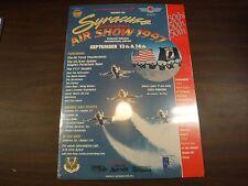 1997 Syracuse International Air Show Air Force Thunderbirds Poster jh