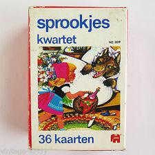 Vintage FAIRYTALE QUARTET PLAYING CARDS GAME DECK |  Jumbo Netherlands | 1970s