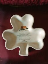 Russ Berrie and Co. Inc. Irish Blessing Shamrock Dish/plate