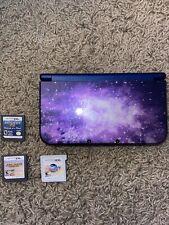 Nintendo 3DS XL Galaxy Style Purple Handheld Console