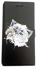 Etui Housse Book pour Huawei Mate 10 Lite avec support Noir Chien Chat Chaton