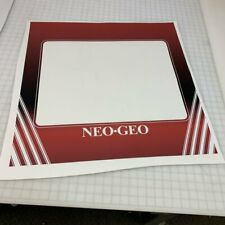 Neo Geo Custom Arcade Monitor Bezel Decal
