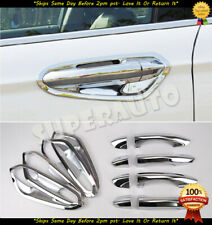 For 2013-2018 Ford Fusion Combo Chrome Door Handle+Inner Bowl Covers Set Kit