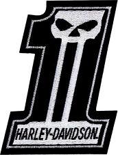 Harley-Davidson® #1 Dark Custom Black & White Logo Emblem Patch (3x4) EM718302