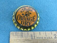 Vintage Felix, Orange Dry Beverage, unused Cork Lined Bottle Cap