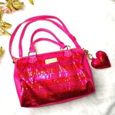 Betsey Johnson Pink sequins Purse Bag Satchel