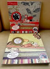 2 Pad Lot Mega Paper Pack Scrapbooking 12x12 Spice of Life & Wild Poppies 66pgs