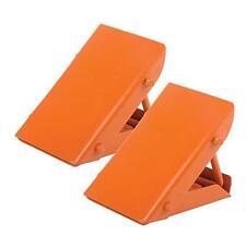 Collapsable Wheel Chocks Rubber Reversing Slip Pads Stoppers-Orange For VW