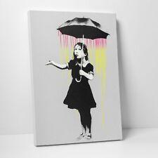 Banksy - Umbrella Girl (NOLA) Wall Art Canvas