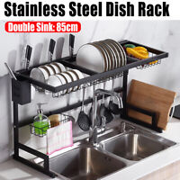"33"" Stainless Steel Over The Sink Dish Drying Rack Drainer Holder Shelf Kitchen"