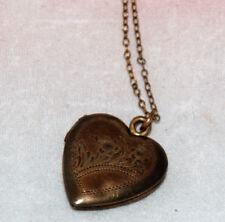 Vintage 1940s Heart Locket Gold Filled on Sterling A.L.L. Co. Necklace