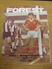 02/04/1980 Nottingham Forest v Manchester United  . Any faults with this item ha