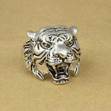 Size 11 Alloy Ring Men Leopard Punk Steam Black Leopard Tiger Rings Unisex Hot