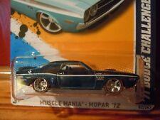 2012 Hot Wheels Super Treasure Hunt Blue 1971 Dodge Challenger Muscle Mania