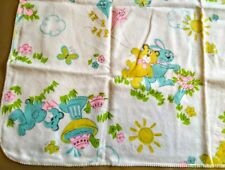 Vintage Baby Blanket Mid Century Baby Nursery 1950s With Tag