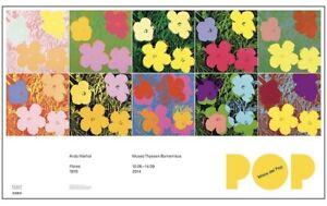 Rare! Andy Warhol exhibition poster! pop art  Roy Lichtenstein flowers