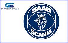 2 Stück SAAB SCANIA Aufkleber - 68mm Durchmesser - Sticker - Decal !-!
