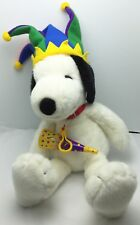 2000 Millennium Court Jester Snoopy Plush Macy's New Years Eve Party Peanuts Dog