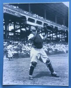 1955 Brooklyn Dodgers ROY CAMPANELLA Glossy 8x10 Game Action Photo Print