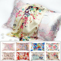 100% Mulberry Silk Pillowcase 25Momme Slip Genuine Silk Floral PillowCover Retro