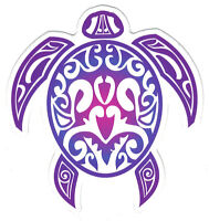 Tribal Turtle - Small Bumper Sticker / Decal