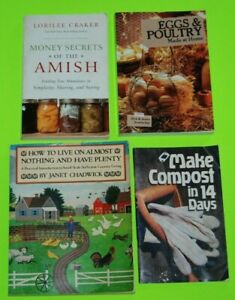 4 Books Live on Almost Nothing & Have Plenty Eggs Poultry Amish 14 Day Compost