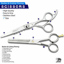 "Fine Edge Hair Cutting Thinning Shears Razor Edged Scissors Length 7"" Silver"